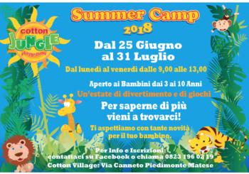 Summer Camp al Cotton Jungle: si parte!