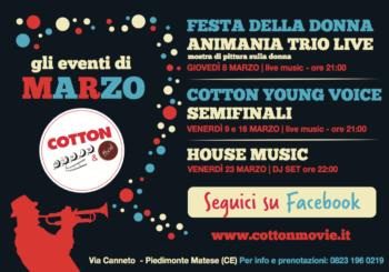 Gli Eventi di Marzo al Cotton Movie