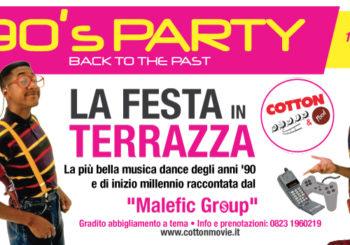 Back to the past: Festa anni 90 in Terrazza al Cotton Movie | Venerdì 15 Giugno